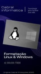 Informatica Formatação de Linux para Windows em borda do campo