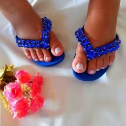 Sandalia havaiana customizada luxo
