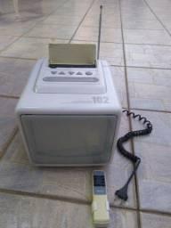 Televisão de cubo anos 90 c/ controle