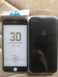 Capa de silicone +película iPhone