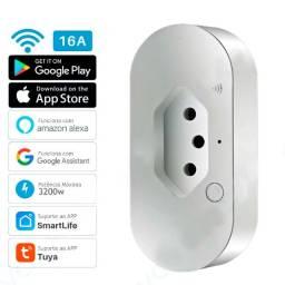 Título do anúncio: Tomada Inteligente Smart Alexa e Google WiFi 16A 3200w 110~240v, até 12x no cartão