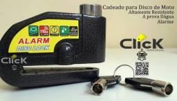 Título do anúncio: Trava Cadeado De Freio Disco Com Alarme Sonoro Para Moto (com alarme)