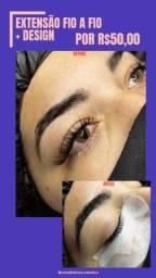 Título do anúncio: extensão de Cílios e sobrancelhas / micropigmentação