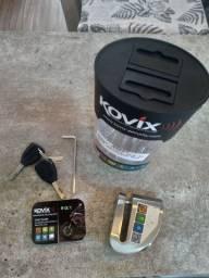 Trava Disco Moto Alarme Kovix Aço Escovado top sensor movimento