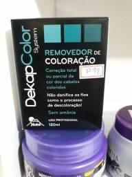 Dekap color removedor de coloração  nos cabelos .