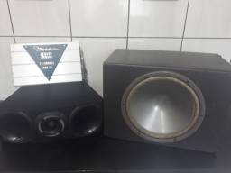 Som carro - sub - corneta - caixa de som