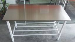 Promoção Imperdivel - Mesa Nova industrial para cozinha 1,40mt