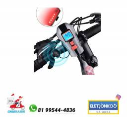 Lanterna Led T6 Farol Bike bicicleta  + Velocímetro + Buzina só zap