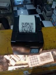 Impressora térmica estár tsp 100 print imprimir QR Code