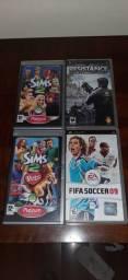 Jogos UMD PSP The Sims 2 FIFA 09 Resistance Retribution