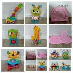 Título do anúncio: Kit brinquedos infantis Fisher Price, e mosquiteiro portátil.