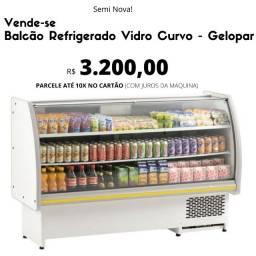 Título do anúncio: Balcão Refrigerado Vidro Curvo 1,75m GBEC-175 - Gelopar