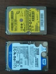 2 Hds de notebook 320gb com defeito