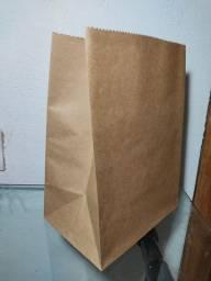 Saco para Delivery G kraft natural 80g pacote com 100unid