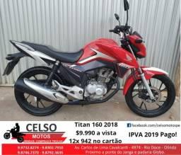 Titan 160 2018 (22.000km) Linda 12x942 no cartão Financio 48x aceito sua moto - 2018