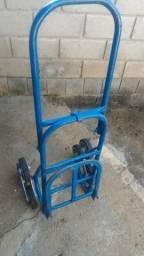 Carrinho para Subir Escada Dobravél com Rodas Estrela em Aluminio e Borracha maciça