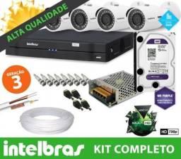 Intelbras Promoção, 4 Câmeras Hd instaladas e configuradas