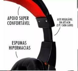 Head phone Gamer com Led fio corda + Adaptador p2