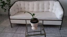 Conjunto de ferro: namoradeira, sofá e aparador comprar usado  Campinas