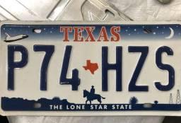 Placa de carro do Texas