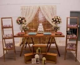 Kit Rústico de Decoração de Festa em Pallet