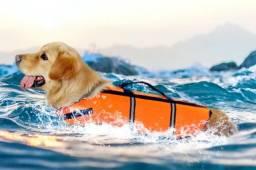 Colete Salva vidas Cães Pet Cachorro M, G E GG