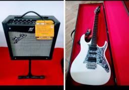 Amplificador Fender + Guitarra Ibanez