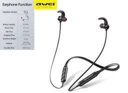 Fones de Ouvido Awei T11 Sport Bluetooth , com Microfone e Controles