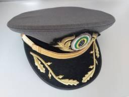 Quepe do exército- Cinza com símbolo