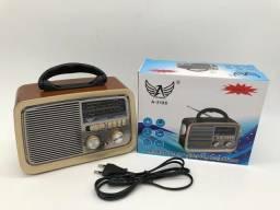 Rádio Retrô bluetooth e MP3     a vista ou 3x nós cartões