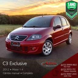 Título do anúncio: Citroën - C3 Exclusive 1.4 Mec. - 2012