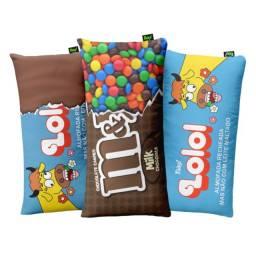 Kit 3 Almofadas Decorativas Lolo, Lolo Embalagem Aberta e Candy