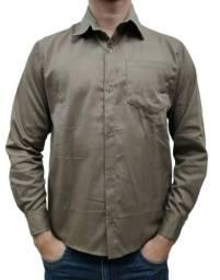 Camisa Brim  (sarja) 100% algodão para trabalho (2 ao 8).