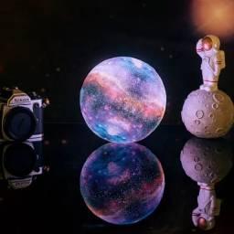 Umidificador E Luminária Lua Colorida Diversas Cores Galáxia