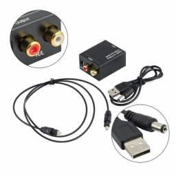 Conversor Audio Digital Optico p/ Analógico, até 12x no cartão