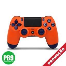 Controle PS4 sony dualshock (Laranja e Azul)