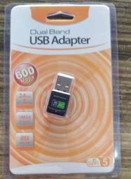 Título do anúncio: Adaptador Wi-Fi Dual Band USB 2.4Ghz e 5.0Ghz