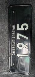 Título do anúncio: Placa preta Caravan 1975