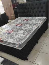 Título do anúncio: Conjunto Base Box Casal no Suede Com Colchão D33 R$899,00