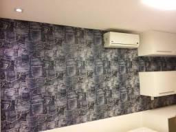 Papel de parede, tercido e adesivo de parede - aplicação por R$45,00 o rolo