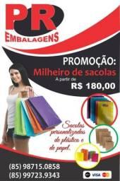 Sacolas personalizadas de plástico/papel 85 987150858/997239343 zap