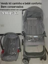 Vende-se kit carrinho e bebê conforto