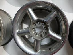 Roda aro 15 Binno 5 Palito cromada multi furo Volkswagen Gol 4X100 avulsa estepe