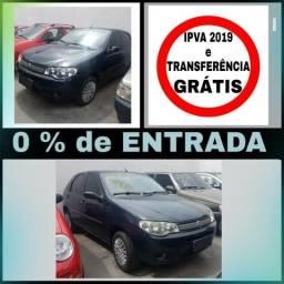 Palio 1.0 - S/ entrada, IPVA e Transferência GRÁTIS - 2007