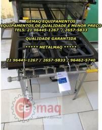 Meya Promoção Metalmaq Fogão industrial de 4 bocas com forno