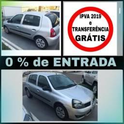 Clio 1.0 - S/ entrada, IPVA e Transferência GRÁTIS - 2012