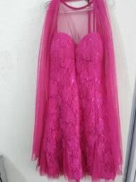 Vestido Mendry festa rosa pink