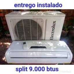 Entrego instalado, split Eletrolux 9.000 btus