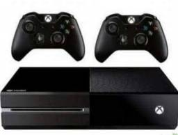 xbox one + 2 controles + 6 jogos