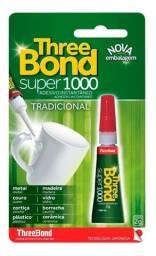 Kit 5 Super Cola 1000 Three Bond 2g